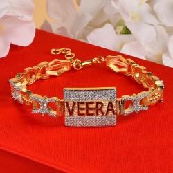 Studded VEERA Bracelet Rakhi