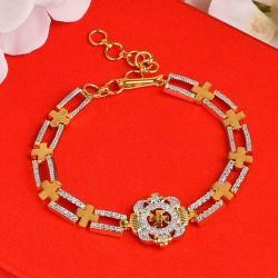 Studded SWASTIK Bracelet Rakhi