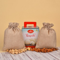 Dry Fruits Potlis N Rasgulla