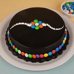 Chocolate Gems Cake for Rakhi
