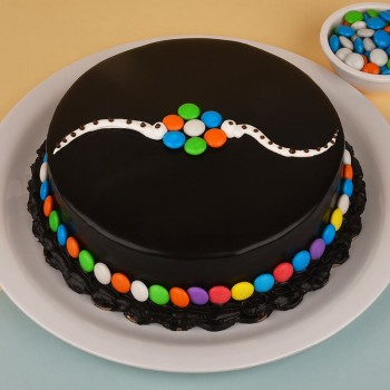 Half Kg Chocolate Gems Cake for Rakhi