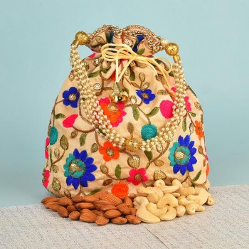 Traditional Designer Potli with Dryfruits