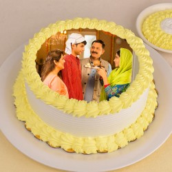 Personalised Pineapple Photo Cake