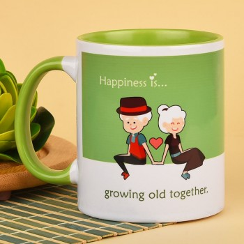Green Handle Coffee Mug for Grandparents
