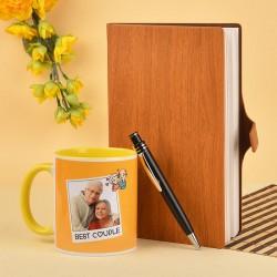 Best Couple Mug N Wooden Diary