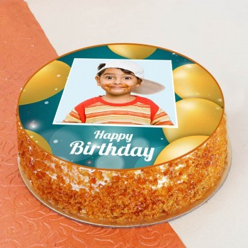 Birthday Theme One Kg Butterscotch Personalised Cake