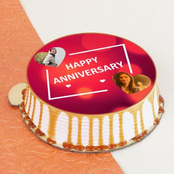 One Kg Anniversary Special Butterscotch Photo Cake