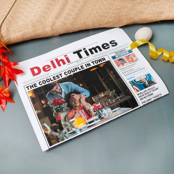 One Personalised Newspaper for Couple