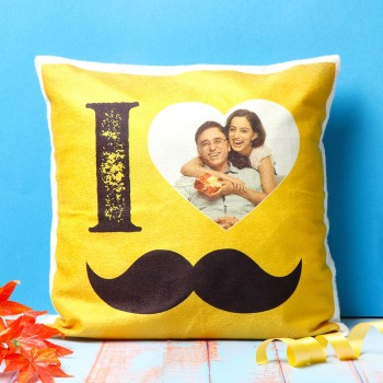 I Love Dad Personalised Photo Designer Cushion