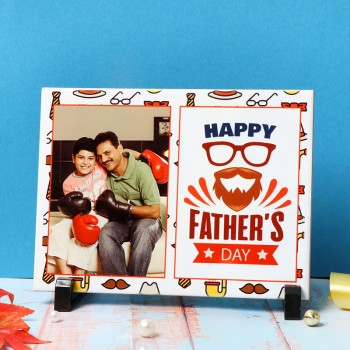 One Personalised Ceramic Tile for Fathers Day