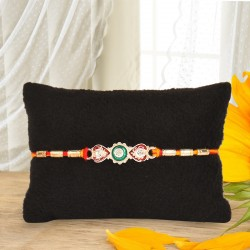 Fashionable Silver Rakhi