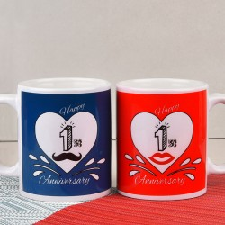 His and Her Anniversary Mugs