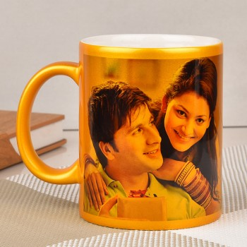 Personalised Golden Ceramic Mug