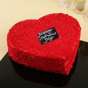 Half Kg Heart Shape Red Velvet Cake for Valentines Day