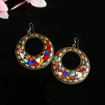 Multicolored Ethnic Earrings