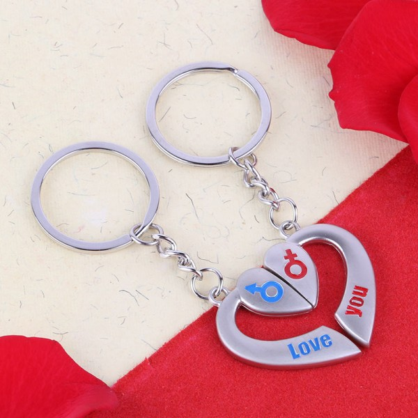 One Heart Key Chain