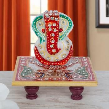 Marble Charpai Ganesha