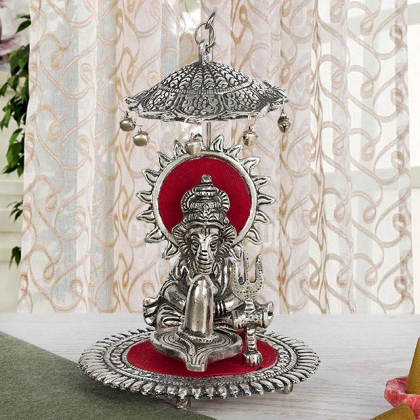 Silver Plated Metal Ganesha Idol