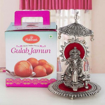 Rasgulla Tin Pack with Metal Ganesha