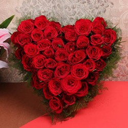 Valentine Heart Shaped Flowers Arrangements