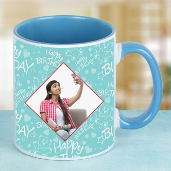 Designer Photo Mug for Girlfriend Birthday