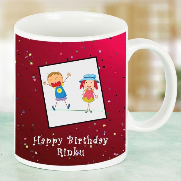 Happy Birthday Printed Personalised Mug for Kids Birthday