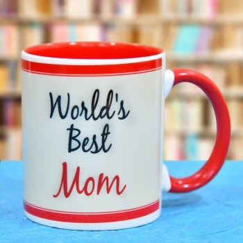 Worlds Best Mom Printed Coffee Mug
