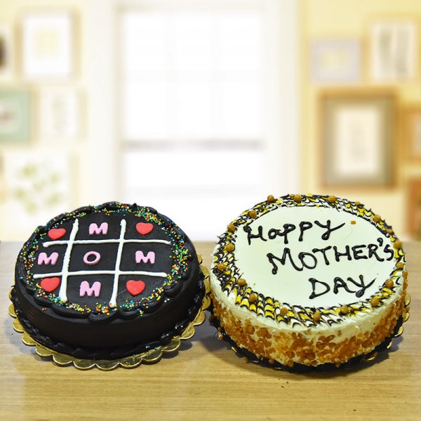 Combo of Half Kg Chocolate and Butterscotch Cake for Mothers Day