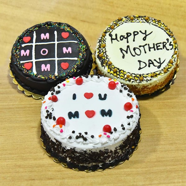 Combo of 3 Half Kg Chocolate, Butterscotch and Black Forest Cake for Mothers Day