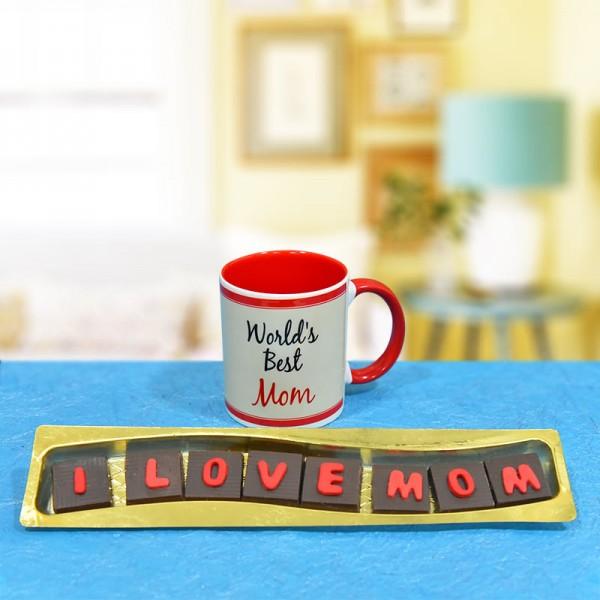 Printed Mug for Mom with Homemade Chocolate