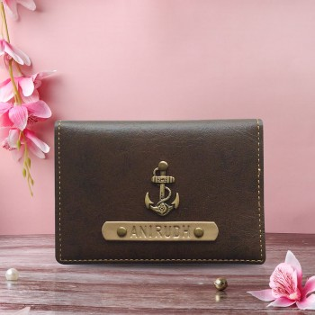 Brown Personalized Card Holder