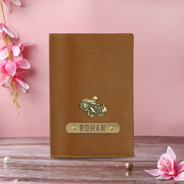 Stylish Personalised Pasport Cover For Men