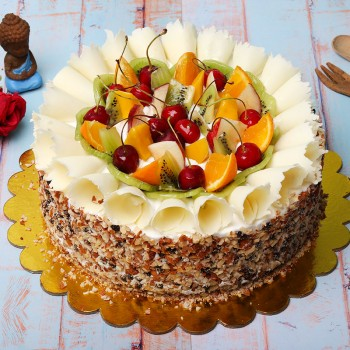 Half Kg Designer Pineapple Fruit Cake