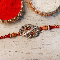 Antique Stone Studded Rakhi