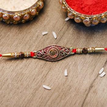 Antique Gold Rakhi