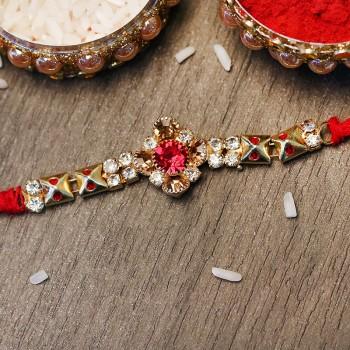 Ornamental Gemstone Rakhi
