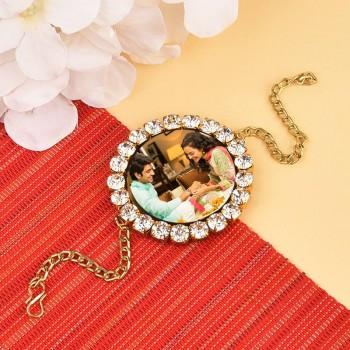 Studded Personalised Bracelet Rakhi