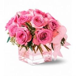 Full Moon Roses (in Vase)