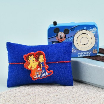 Chhota Bheem Kids Rakhi with Camera Sharpener