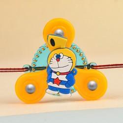 Doraemon Kids Fidget Spinner Rakhi