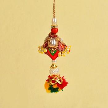 Stunning Zardosi Lumba Rakhi