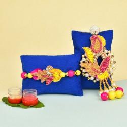 Vibrant Pearl Lumba Rakhi Set