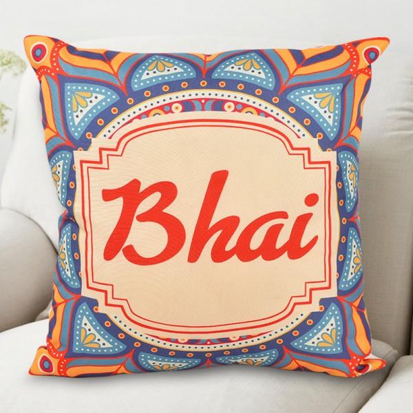 Designer Bhai Printed Cushion for Rakhi