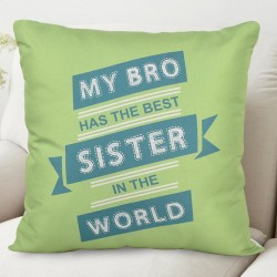 Quirky Quote Cushion for Sister