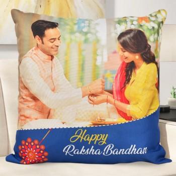 online personalised cushion for rakhi