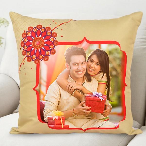 Traditional Raksha Bandhan Personalised Cushion