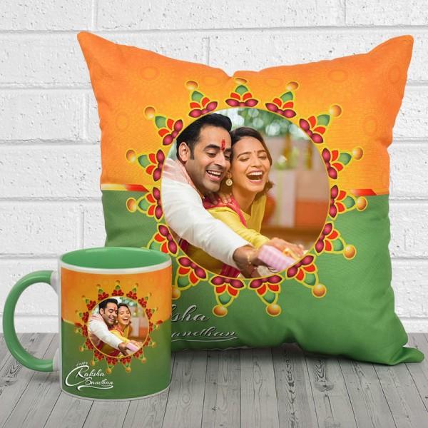 Personalised Mug and Cushion for Rakhi