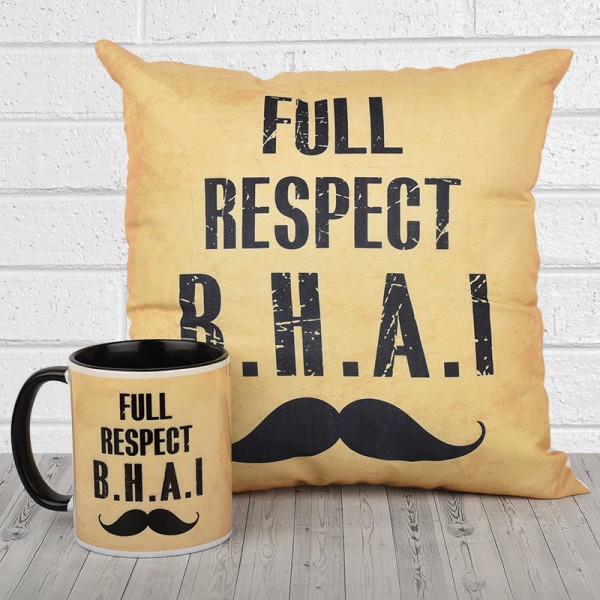 Printed Quote Mug and Cushion for Brother