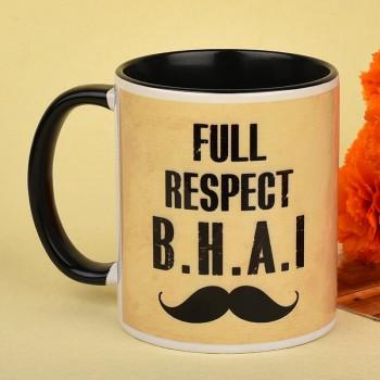 Printed Quote Mug for Bhai