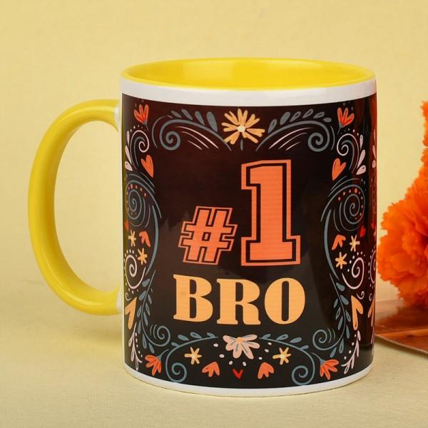 No 1 Bro Printed Coffee Mug